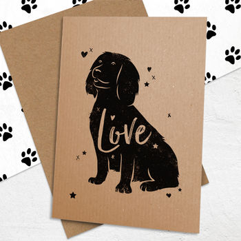 Working Cocker Spaniel 'Love' Card