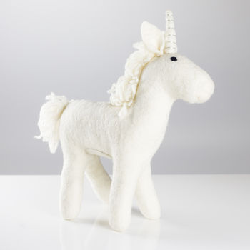 Handmade Felt Big Unicorn