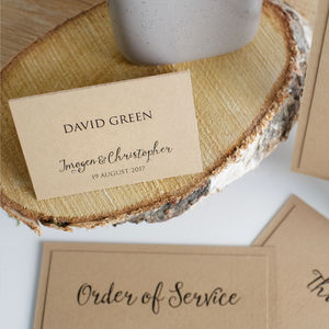 Kraft Wedding Place Card - wedding stationery