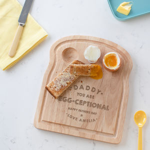 Personalised Egg And Toast Board For Daddy