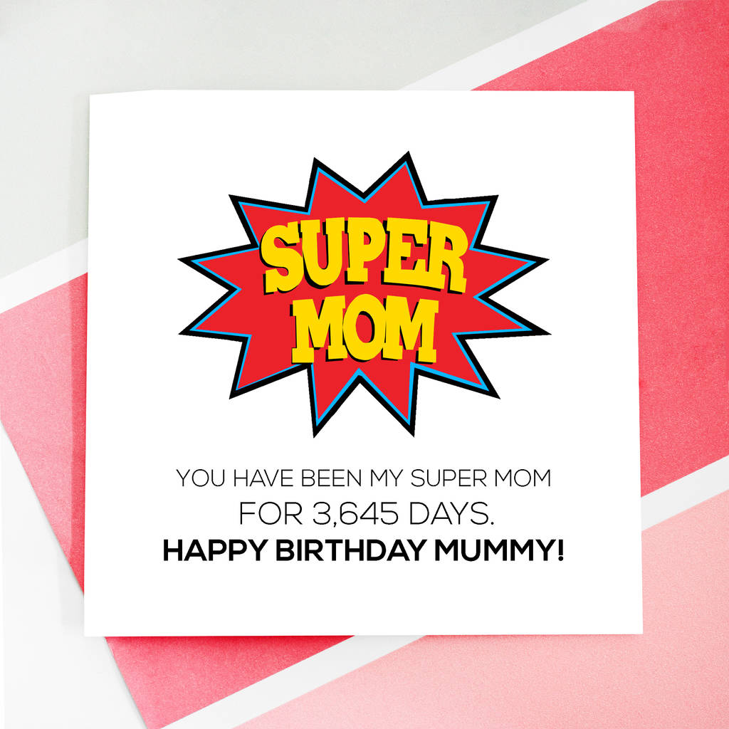 Personalised super mom birthday card by rabal notonthehighstreet personalised super mom birthday card bookmarktalkfo Image collections