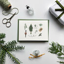 'Christmas Traditions' Hand Illustrated Card/Set