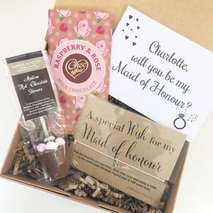 Will You Be My Maid Of Honour Gift Box - be my bridesmaid?