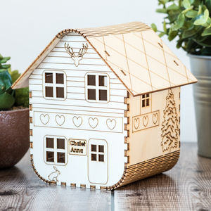 Personalised Ski Chalet Nightlight - children's room