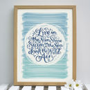 Seaside Quote Print