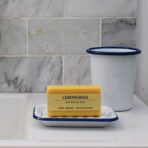 Traditional Enamel Soap Dish - bathroom