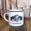 Personalised Ceramic Campfire Style Bookworm Mug