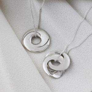 Personalised Interlinking Hoop Locket Necklace - top unique gifts