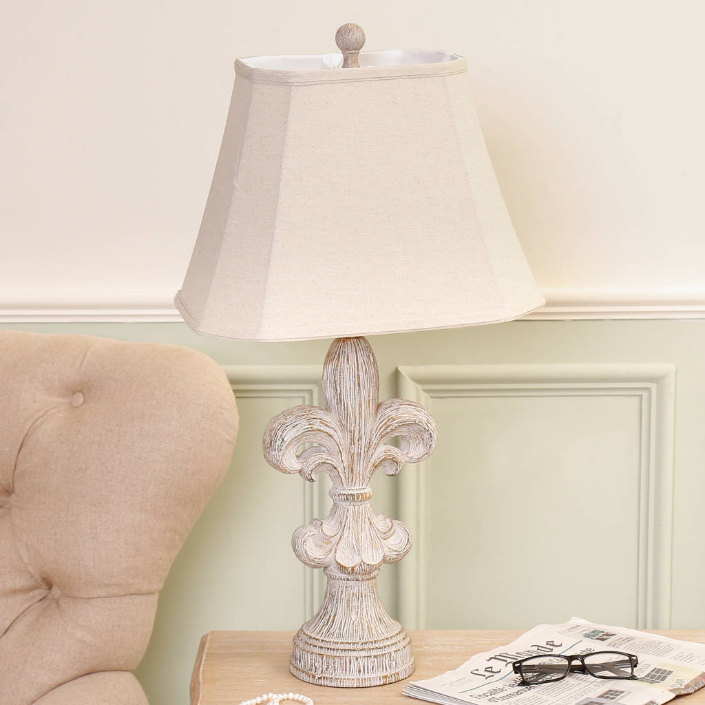 Wood effect distressed ceramic fleur de lys table lamp by dibor wood effect distressed ceramic fleur de lys table lamp mozeypictures Gallery