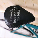 Bloody Love Riding My Bike Seat Rain Cover Cyclist Gift