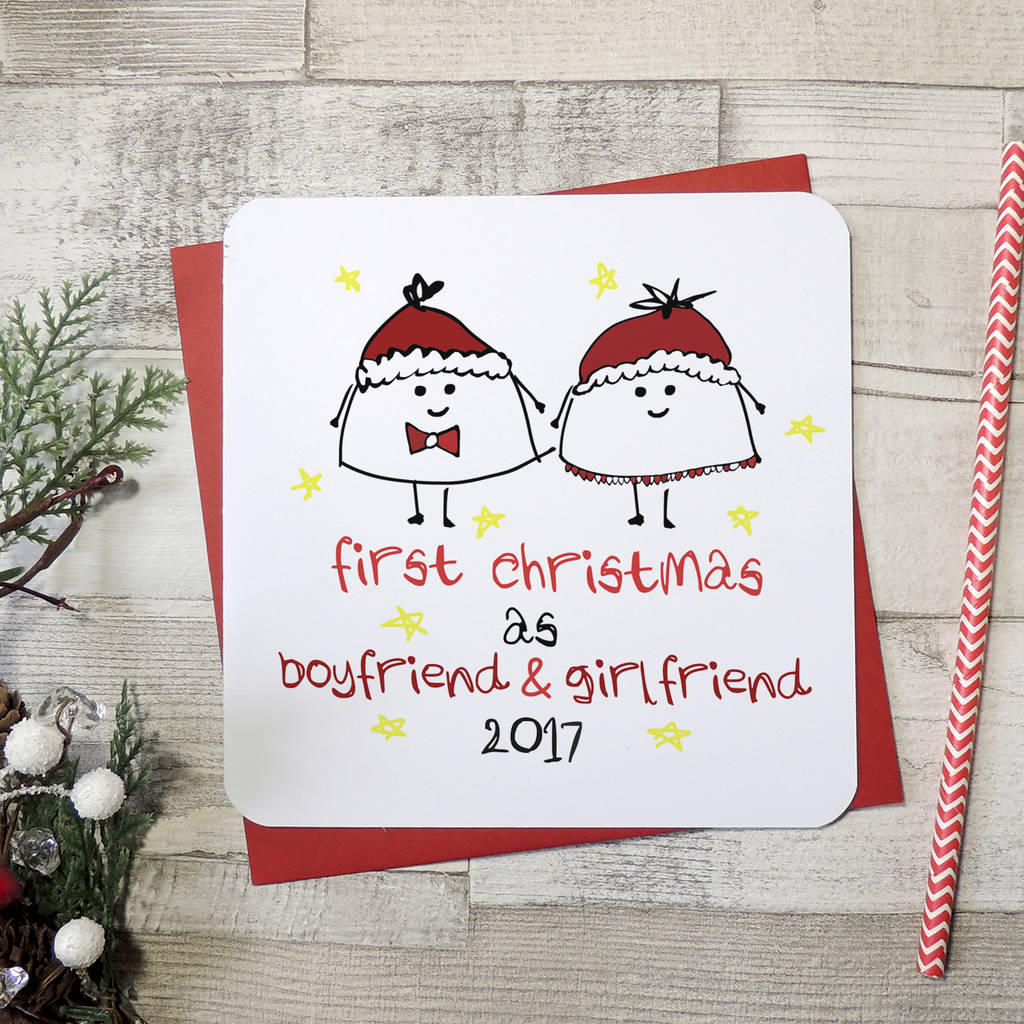 'first christmas as boyfriend and girlfriend' xmas card by ...