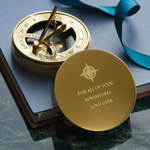 Adventurer's Personalised Sundial And Compass - gifts for him
