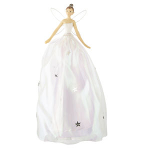 White Fairy Christmas Tree Topper - fairy tale christmas decorations