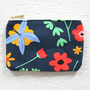 Pop Floral Print Coin Purse