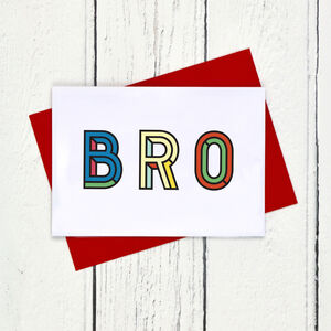 Brother Colourful Typographic Card