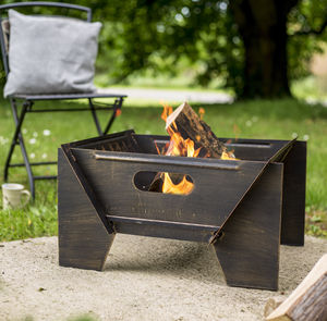 Modern Bronze Steel Firepit - fire pits & outdoor heating