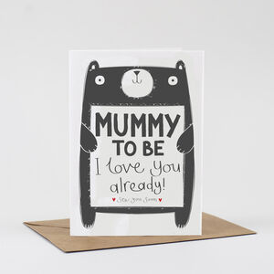 Mummy To Be Birthday Card From The Bump