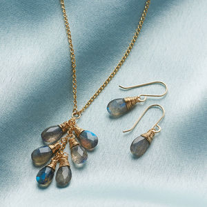 Labradorite Briolette Set - gifts for her