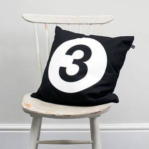 Number 'Three' Cushion Cover - children's room
