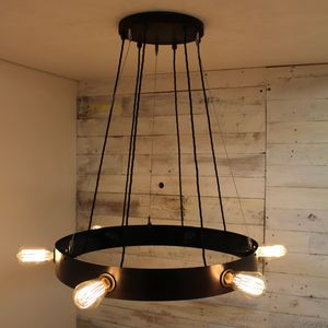 Cley Gunmetal Finished Steel Circular Chandelier