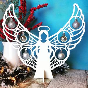 Angel Freestanding Modern Bauble Holder Christmas Tree - snow globes & ornaments