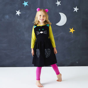 Cat Pinafore Dress