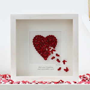 Personalised Ruby Wedding Anniversary Wall Art