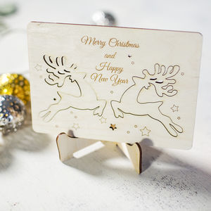3D Pop Out Reindeer Christmas Card