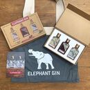 Elephant Gin Tasting Set And Canvas Bag