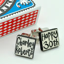 Personalised Hand Painted Ceramic Cufflinks