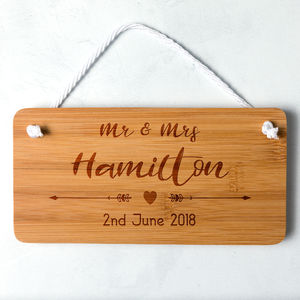 Personalised Bamboo Wedding Sign - view all new
