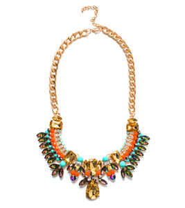 Crystal Collection Turquoise Statement Necklace - statement jewellery