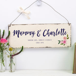 Personalised Floral Mother's Day Sign - gifts for mothers