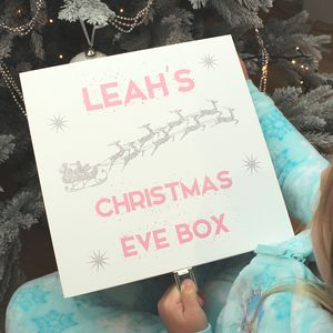 Personalised Santa S Sleigh Wooden Christmas Eve Box By Dreams To