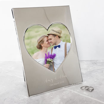 Wedding Heart Photo Frame
