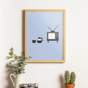 Coffee And TV Print