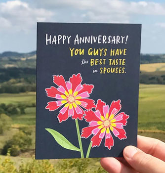'Taste In Spouses' Anniversary Card