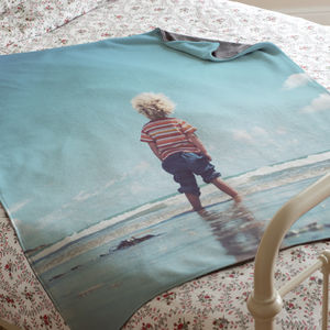 Personalised Luxury Photo Blanket - bedding & accessories
