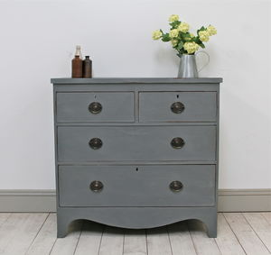 Distressed Victorian Painted Chest Of Drawers