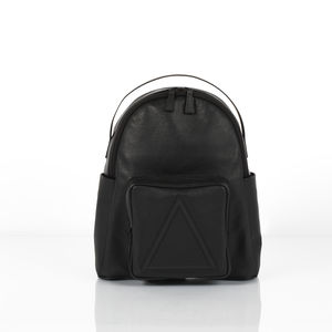 Soho Black Unisex Leather Backpack - womens