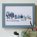 Personalised Owl Family Tree Print