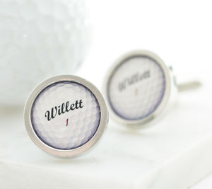 Personalised Golf Ball Cufflinks - cufflinks