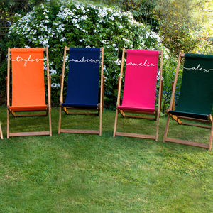 Personalised Adult Deckchair - personalised wedding gifts