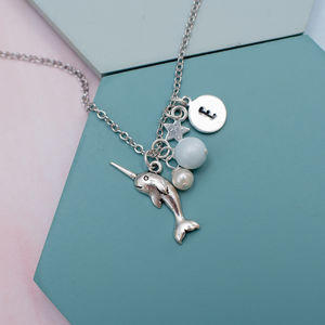Personalised Narwhal Charm Necklace