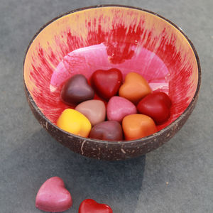 Brushstroke Pattern Coconut Shell Snack Bowl - bowls