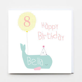 Happy Birthday Whale Greeting Card