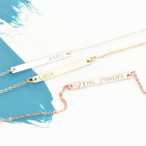 Minimalist Personalised Bar Necklace - women's jewellery