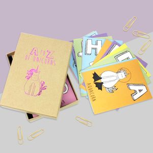A To Z Of Unicorns Postcard Set - shop by category