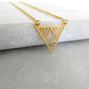 Delicate Geometric V Shape Necklace