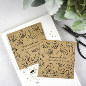 Wedding Wildflower Seed Packet Favours